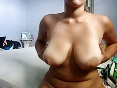Cute chubby girlfriend masturbates and shows her tight asshole