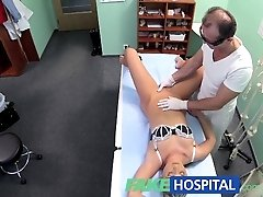 FakeHospital Hot blonde loves the doctors muscles and smooth talking charm