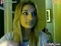 Big nosed busty webcam teen plays with her perky rack for me