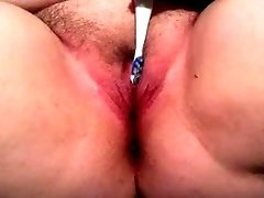 My fat pink pussy and an electric toothbrush on cam