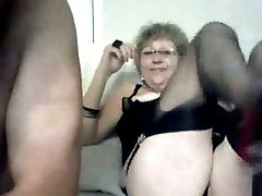 Mature lady is so wild and freaky on webcam with her hubby