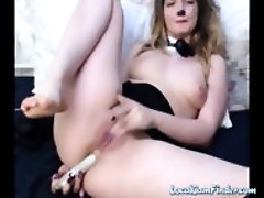 Huge ass cosplayer plays with her tight anal hole