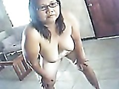 Webcam solo with my fat fuckbuddy dancing naked and shaking her tits