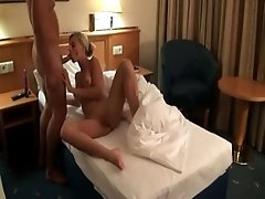 Raunchy blonde nympho with nice ass likes it in every position