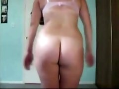 Kinky webcam housewife stripteased and flashed her big boobies